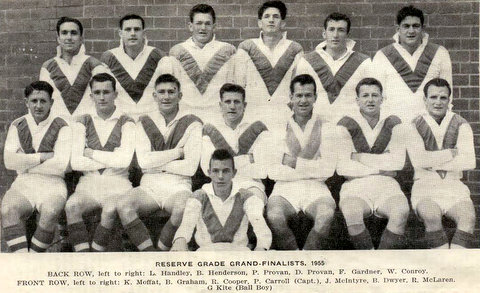 1955 b reserve grade final team photo