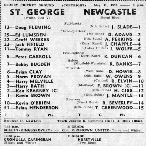 1957 b StG v Newcastle program