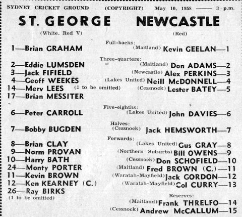 1958 b StG v Newcastle program