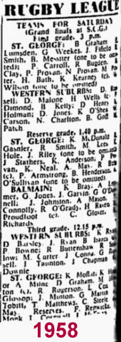 1958 big GF team list