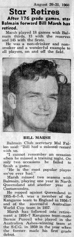 1960 b Bill Marsh retire story