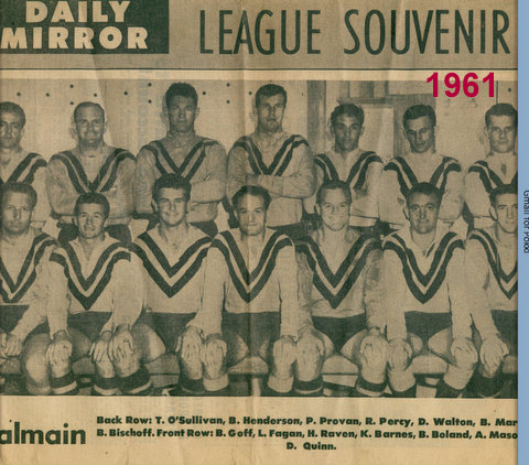 1961 Team photo Balmain