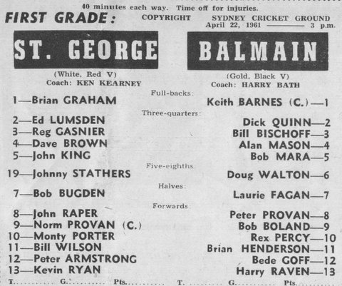 1961 b first grade game v StG program