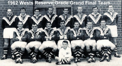 1962 Wests  Reserve grade GF team