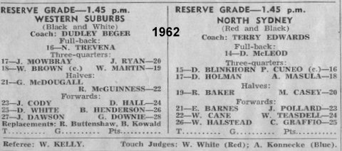 1962 b first game at wests program