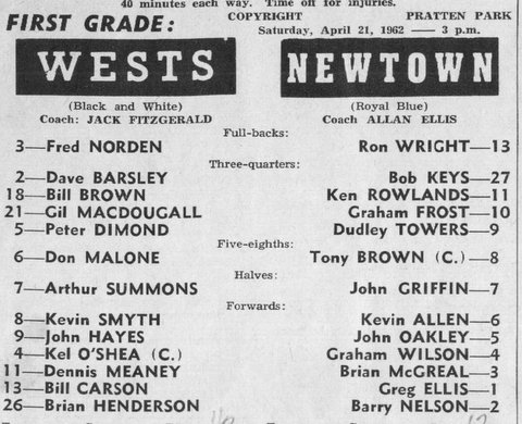 1962 b wests first grade program first First grade game