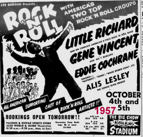 Big 1957 Rock and Roll poster