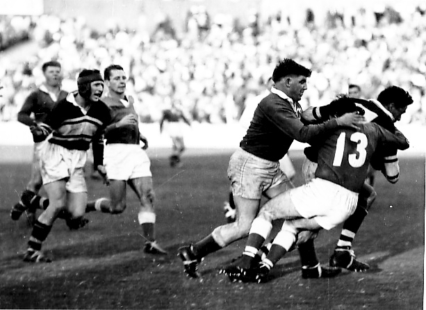 Henry Holloway playing for Newtown in 1956.