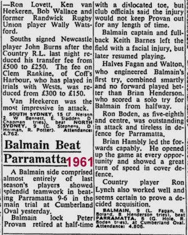 big story Balmain v Parra 1961