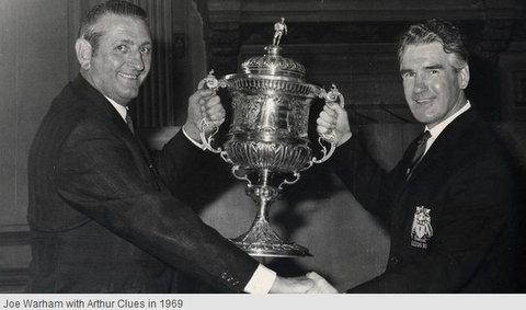 Arthur Clues holding cup 1969.