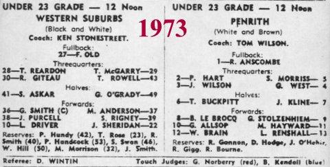 1973 under 23s team