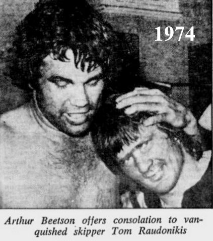 1974 Tommy and beetson photo after easts beat wests