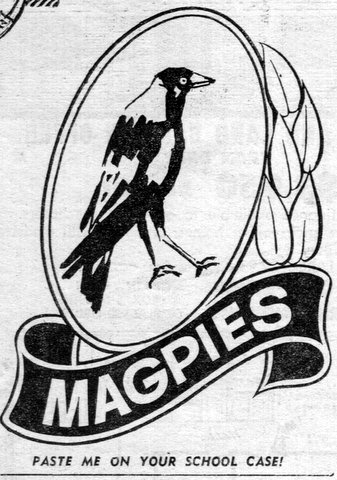1975 magpie badge school case