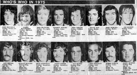 1975 photos of wests players.
