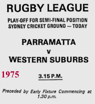 1975 playoff poster parr v wests.