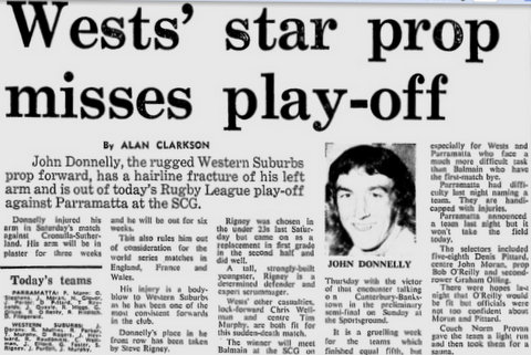 1975 wests play off game story