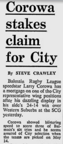 1978 West V balmain Larru scores 3 tries.