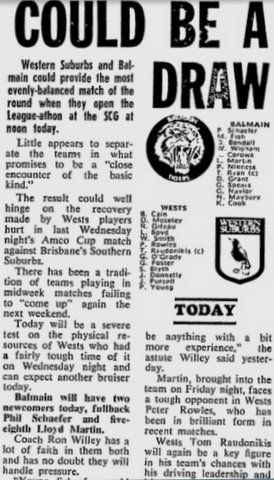 1978 Wests V balmain at SCG story