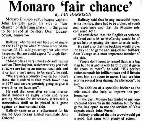 1979 Monaro V GB story