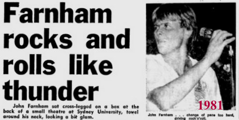 1981 John Farham story and pic