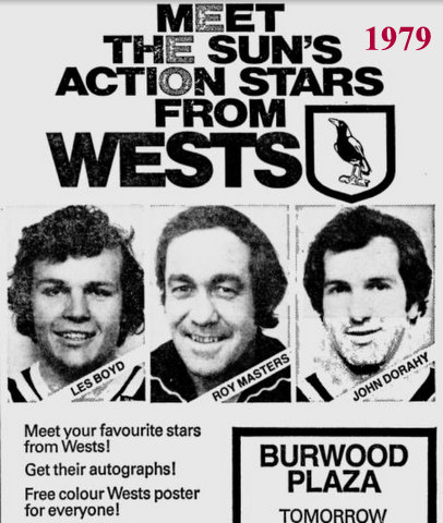 Wests stars at Burwood advert