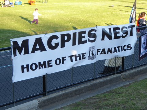 wests fanatics banner on fence