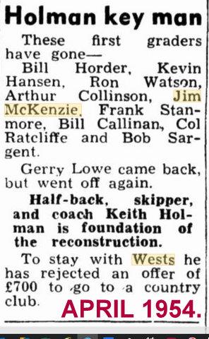 jim 1954 has left Wests.