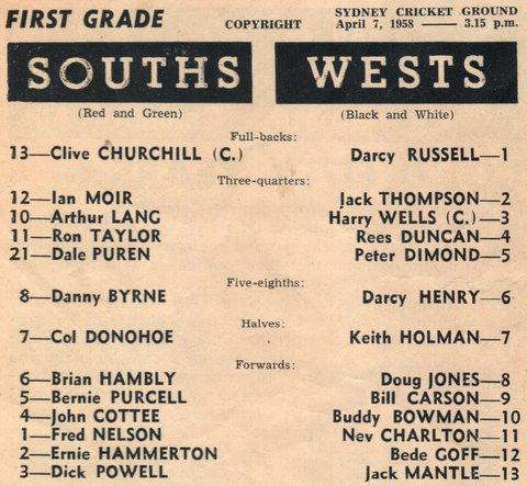 1950Wests v Souths