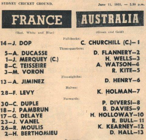 1955 aust v france june