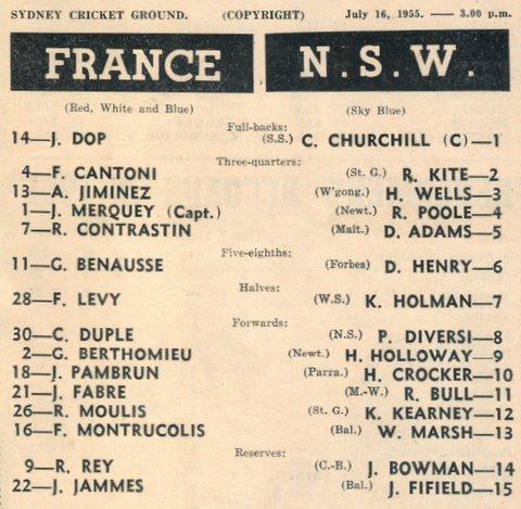 1955 nsw v france july