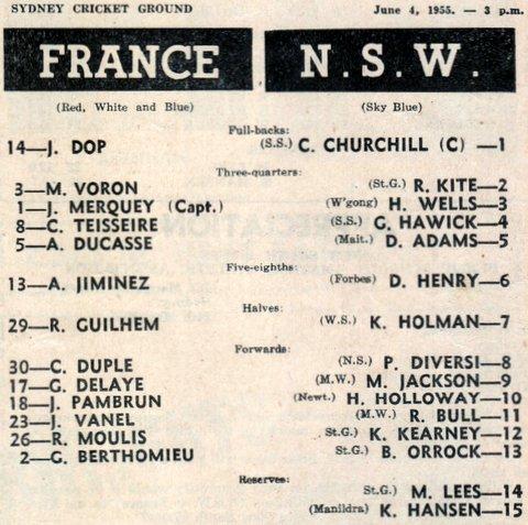 1955 nsw v france june