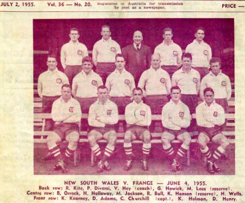 1955 nsw v france photo june