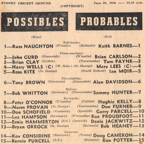 1956 harry playing for possibles