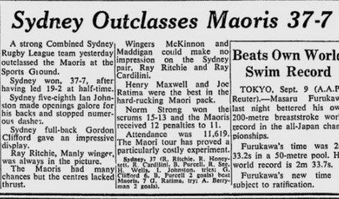 1956 syd v Maoris