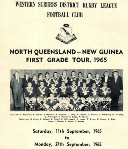 1965 north qld and new guinea tour