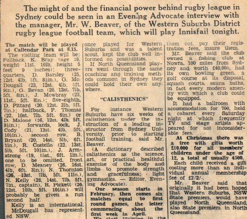 1965 north qld game report