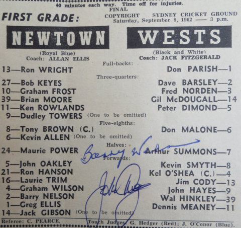 1962 wests v newtown
