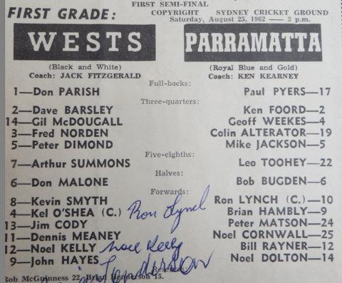 1962 wests v parra