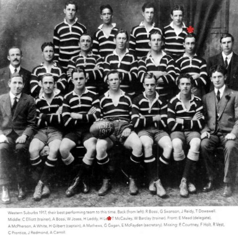 1917 Wests team photo Tom