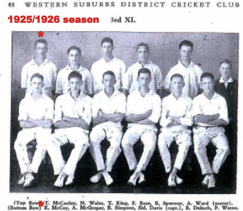 1925 1926 Wests cricket team photo.