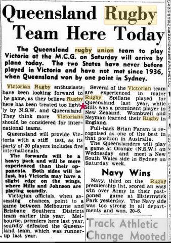 Vic V QLD 1950 4