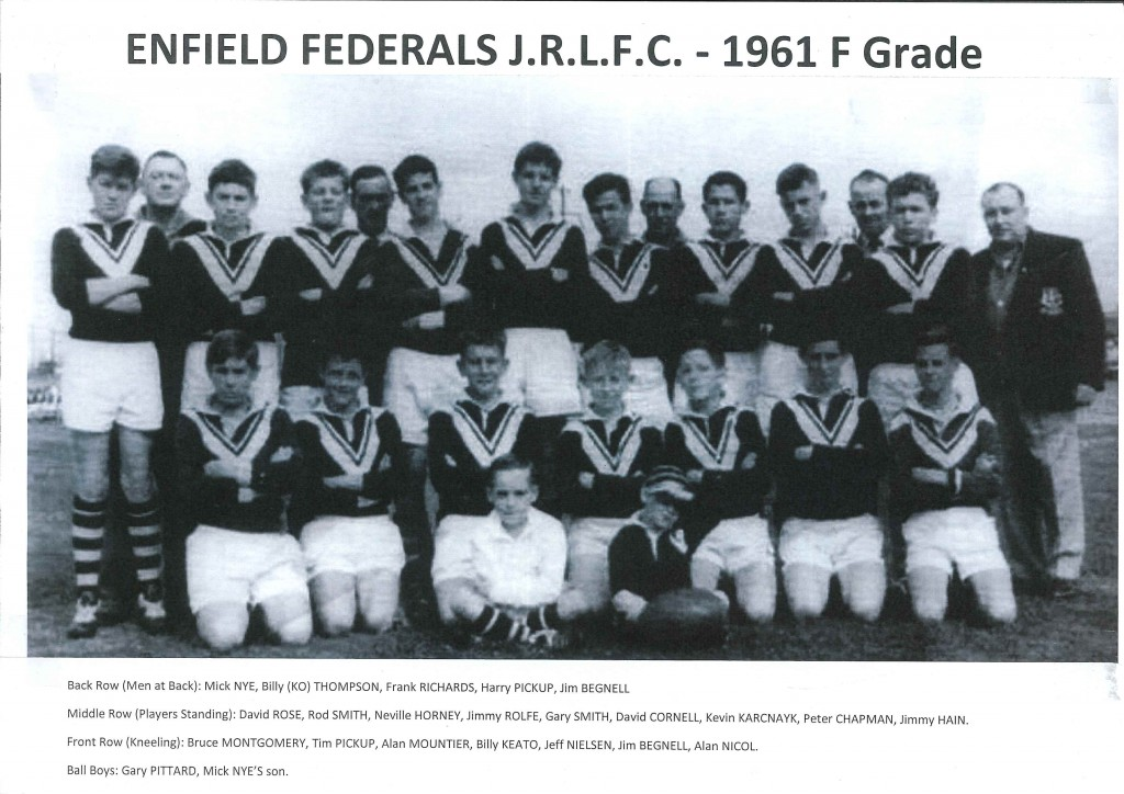 1961 Enfield Federals F Grade (with Names)