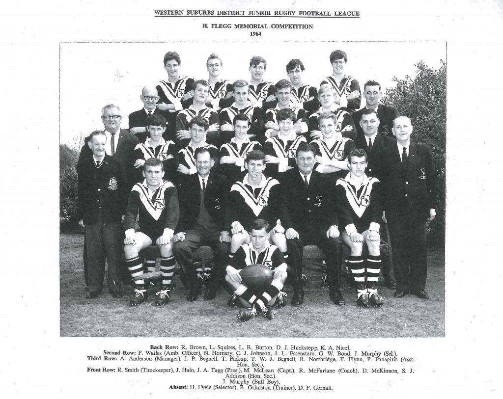 1964 Western Suburbs Jersey Flegg Team