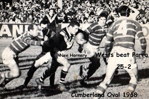 Nev Hornery 1968 Cumberland Oval good pic with ball