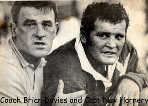 Nev Hornery with Brian Davies Wynnum Manly coach