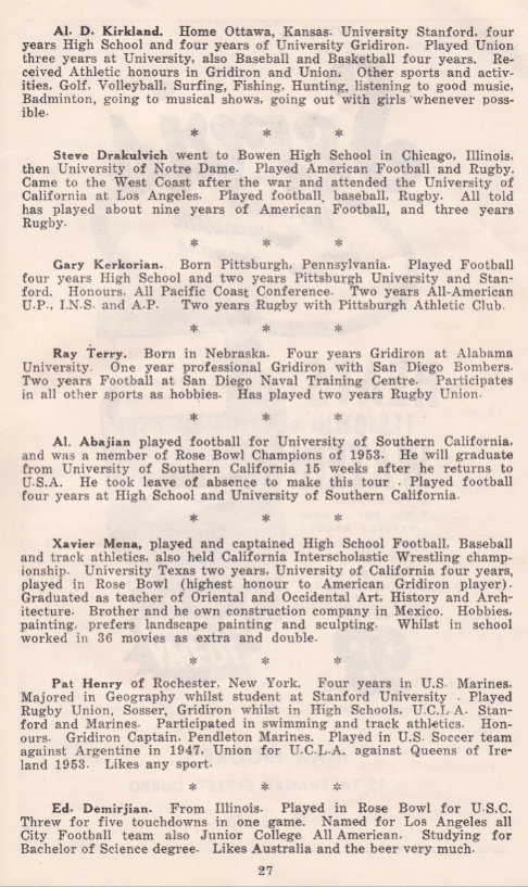 1953 Dubbo players facts 1