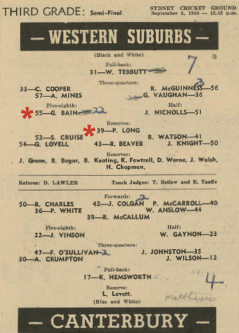 1948 semi final 3rd grade wests win.