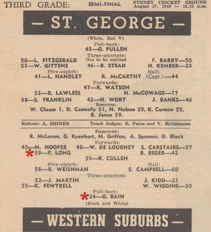 1949 semi final pro 3rd grade