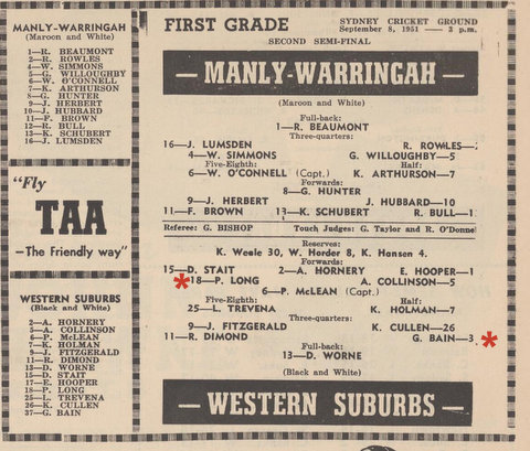 1951 prog peter and george semi v manly