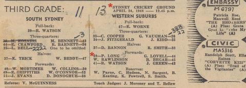 fiest grade game 1948